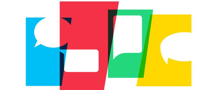 coloured speechbubbles